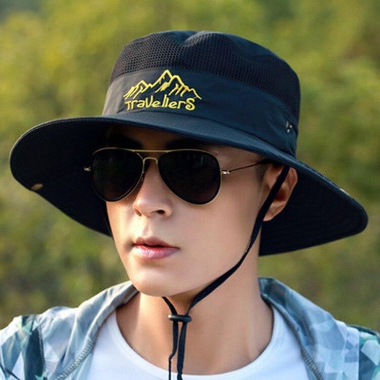 Шляпа мужская сетчатая для активного отдыха, Панама от солнца, для рыбалки, летняя панама панама мужская кепка мужская