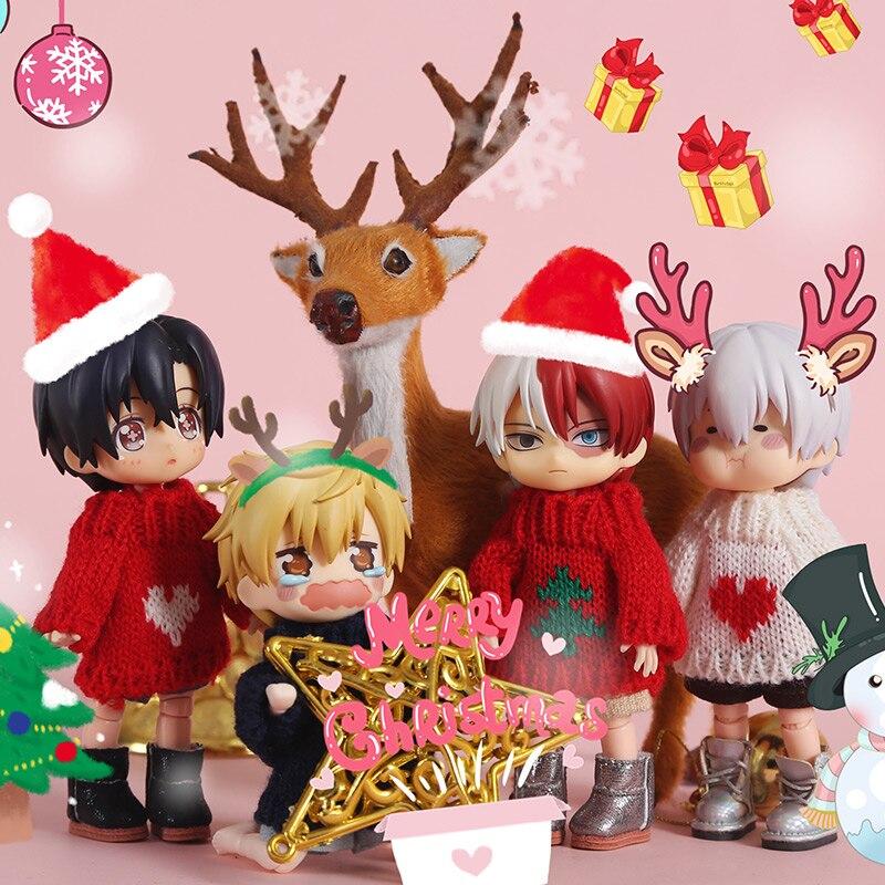 Одежда HOUZIWA OB11, свитер, одежда на Новый год и Рождество, Одежда для кукол 1/8 BJD