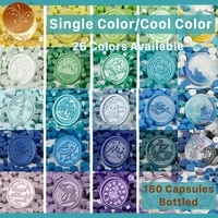 180pcs octagonal single color sealing wax for wedding wax seal diy crafts ancient sealing wax beads tablet cool color bottled