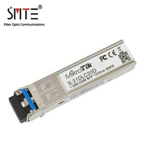 Mikrotik S-31DLC20D 1,25G-1310nm-20km-DDM-SFP волоконно-оптический трансивер