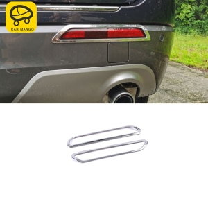 CarMango for Ford Explorer U625 2020 Car Accessories Rear Fog Light Gloss Trim Cover Sticker Frame Chrome Exterior Decoration