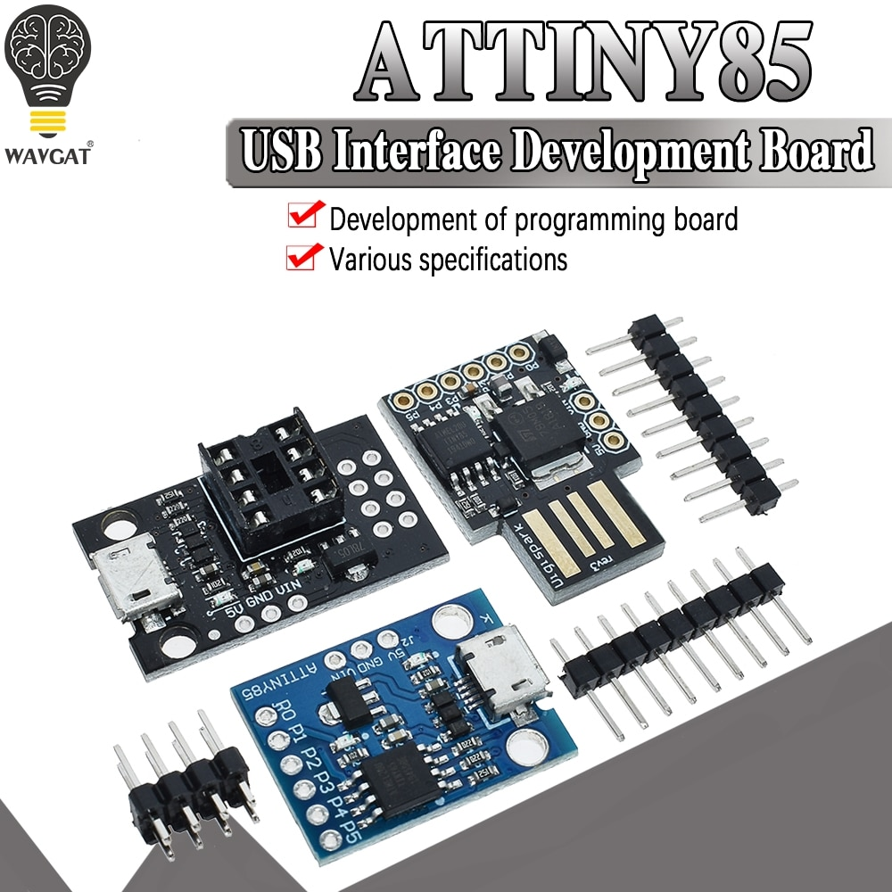 official Blue Black TINY85 Digispark Kickstarter Micro Development Board ATTINY85 module for Arduino IIC I2C USB