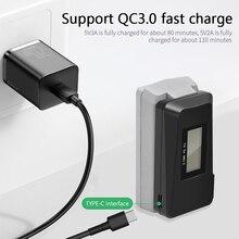 For DJI Mini 2 Drone Digital USB Charger Battery Digital display screen 8.8V / 1.6A QC3.0 Fast Charg