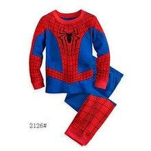 Bambin dessin animé Pyjama enfant Captain America Pyjama ensemble garçons vêtements bébé Spiderman Pyjama Batman enfants pijama infantil coton
