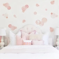pink polka dots wall stickers for baby kids room baby nursery stickers home decor kids wall decals bedroom art mural wallpaper