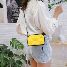 Women Mini Suitcase Shape Shoulder Bags Women Bump Shape Handbag Female Makeup Storage Bag Waterproo