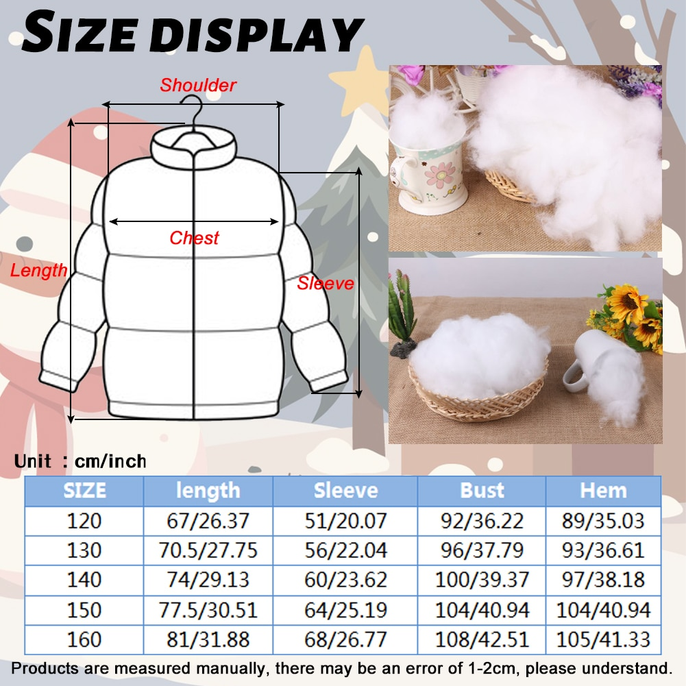Long White Duck Down Outerwear for Girls Padded Puffer Jackets Solid Winter Coat Hooded Thicken Clothes Warm Casual Overcoat enlarge