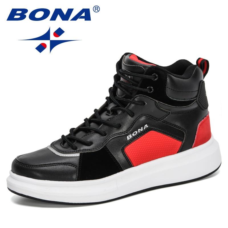 BONA-أحذية رياضية جلدية غير قابلة للانزلاق للرجال ، أحذية رياضية مريحة وعصرية ، للأماكن الخارجية ، 2020