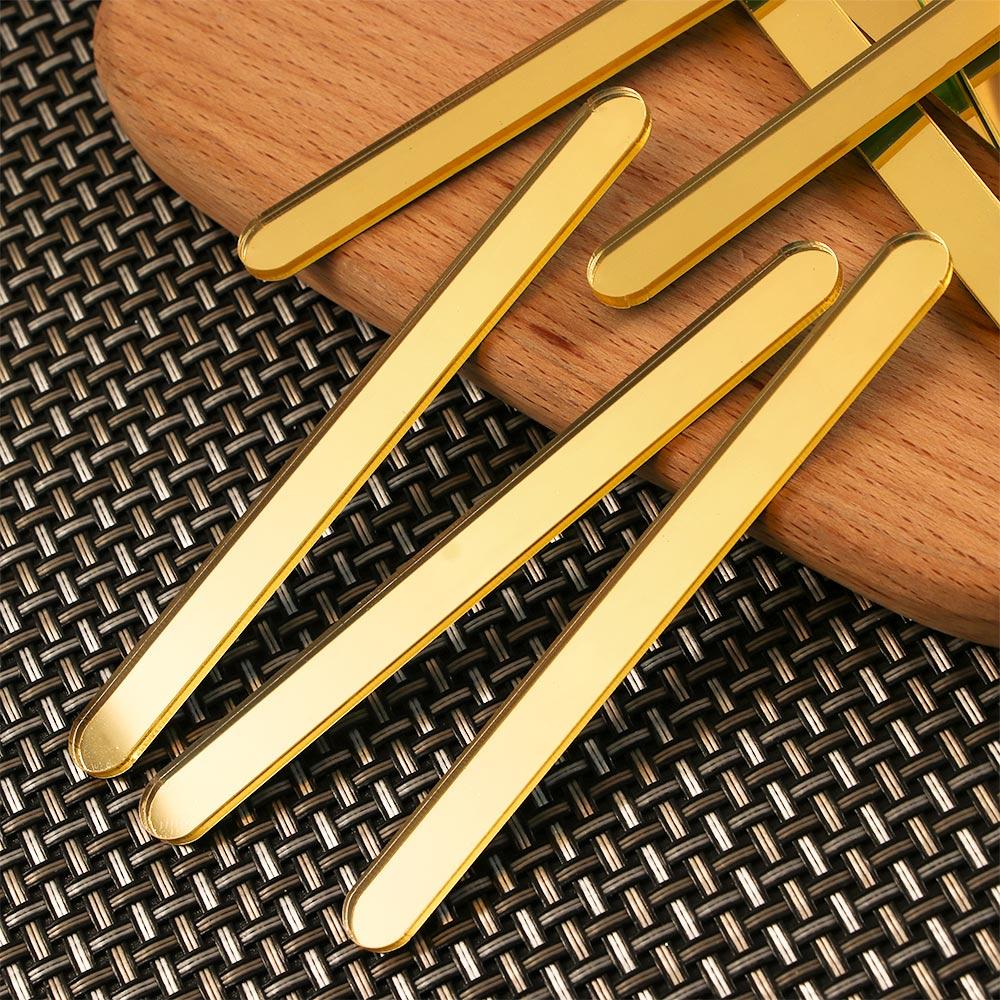 10pcs Acrylic Ice Cream Sticks Popsicle Stick Kids DIY Crafts Mould 11.3x1cm