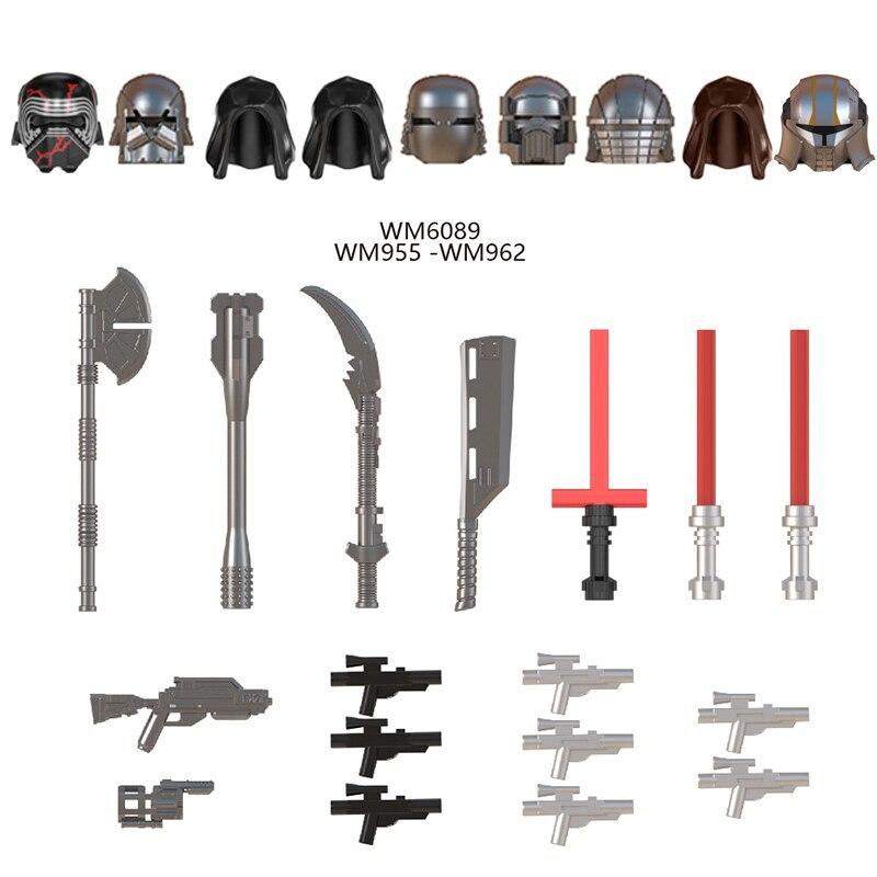 Star space Wars Starkiller los caballeros de ren WM6089 Mandalorian BabyYoda figuras accesorios ladrillos construcción bloques para niños