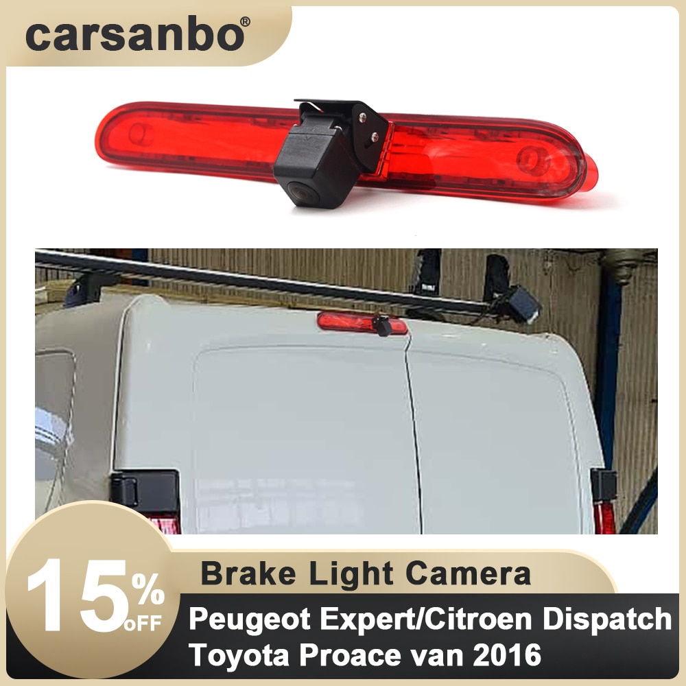 Car Brake Light Reverse camera For Peugeot Expert/ Citroen Dispatch/Toyota Proace van 2016 with 7 inch rearview mirror optional