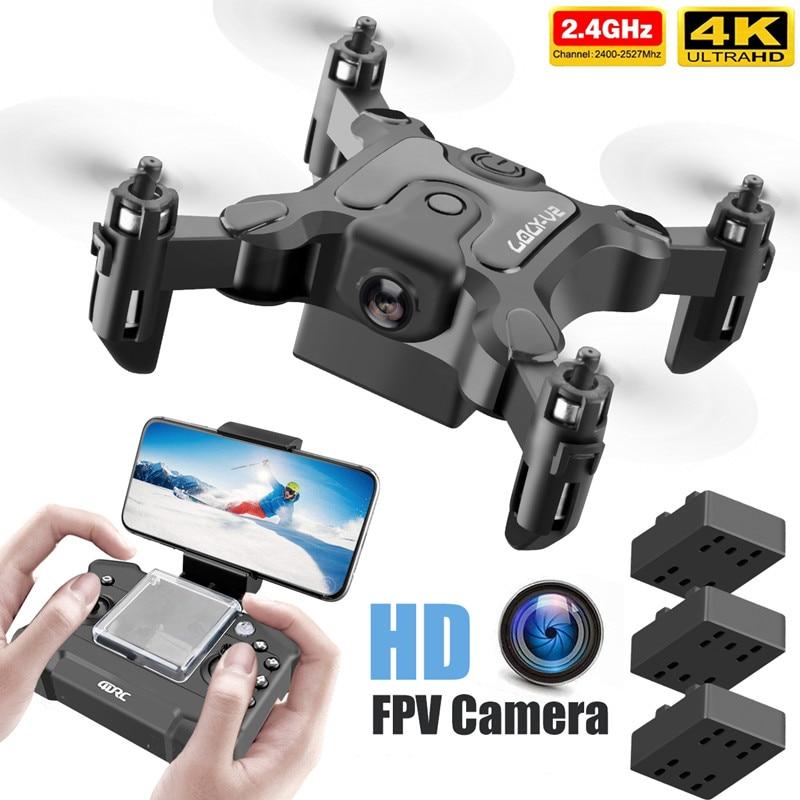 جديد طائرة صغيرة بدون طيار V2 4K 1080P HD كاميرا واي فاي Fpv ضغط الهواء الارتفاع عقد طوي كوادكوبتر RC الطائرة بدون طيار هدية لعبة أطفال