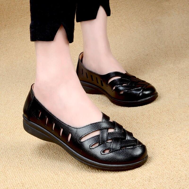 حذاء مسطح مضفر للنساء ، حذاء موكاسين أسود بفتحات ، ضفائر ناعمة للنساء ، حذاء سهل الارتداء ، قيادة ، حذاء موكاسين للمشي