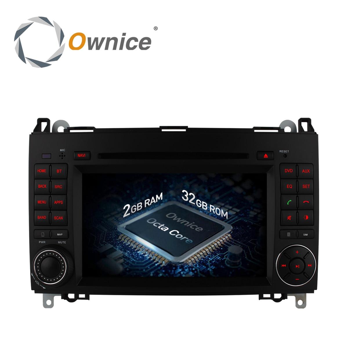 Ownice-reproductor de DVD para coche, Android 6,0, 8 Core, para Mercedes Sprinter W209, W169, W245, Viano, Vito, Clase B, B150, B170, B200, A160, A180, C500