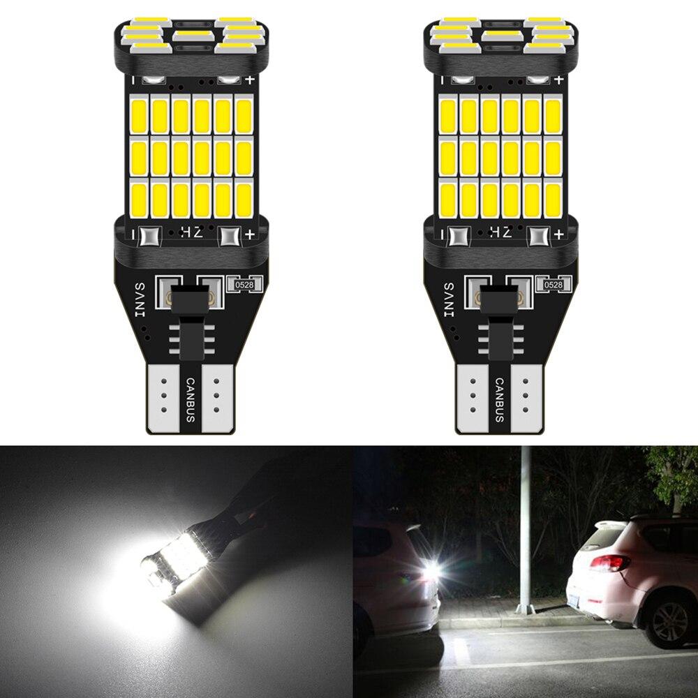 2 шт. W16W T15 T16 светодиодный светильник Canbus без ошибок светодиодный фонарь заднего хода 921 912 W16W светодиодный фонарь заднего хода ксеноновый белый