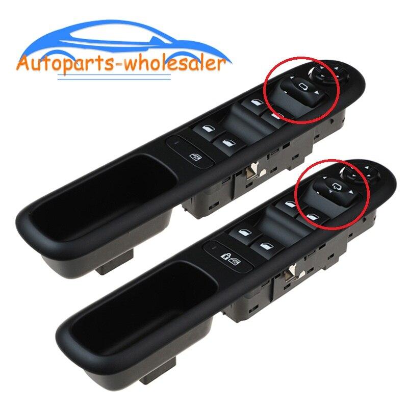 Frente esquerda mestre interruptor da janela de energia do carro para peugeot 3008 5008 hatchback wagon 96650620zd 96650621zd 6490x6