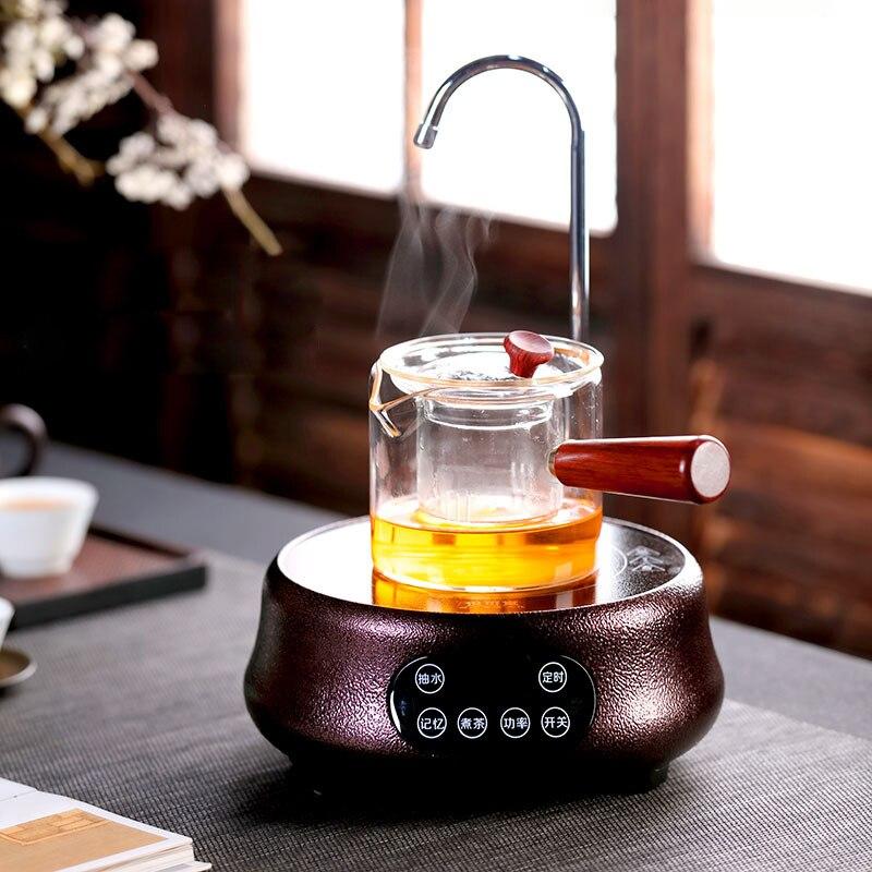 1300 واط سخان كهربائي موقد ماكينة إعداد الشاي لوح تسخين كهربائي الذكية الشاي موقد الماء المغلي متعددة الوظائف فرن المعالجة الحرارية 220 فولت