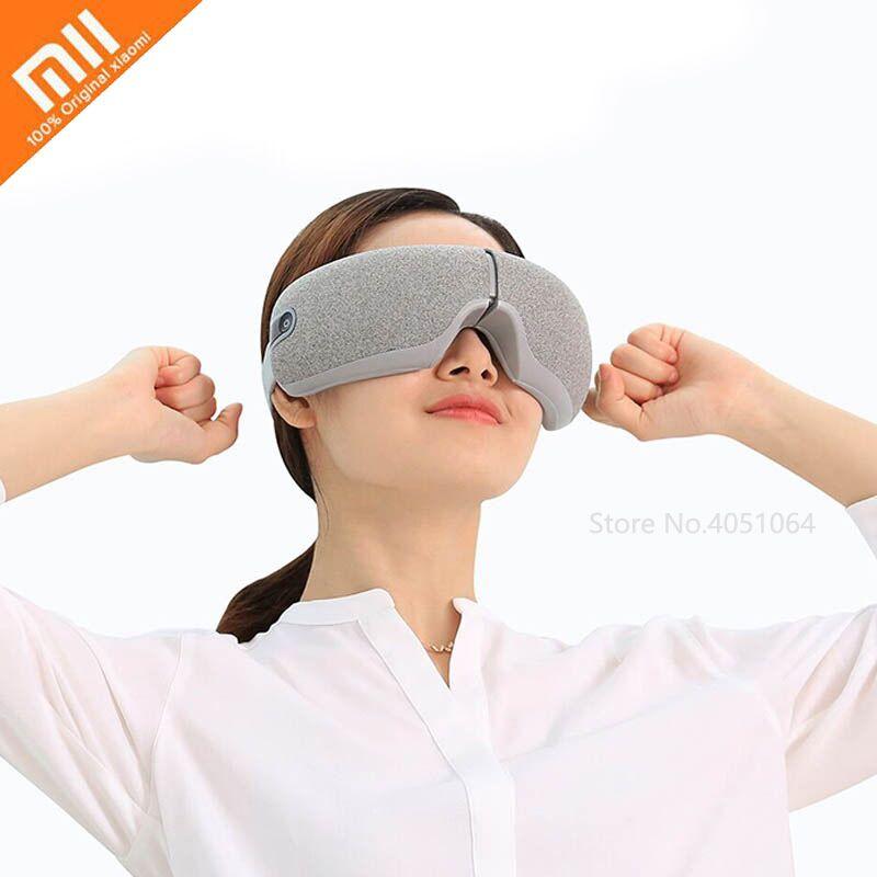 Xiaomi Eye Massager Foldable Vibration Smart Rolling Massage Hot Heating Therapy Smart Eye Mask USB Rechargeable 3D Massager