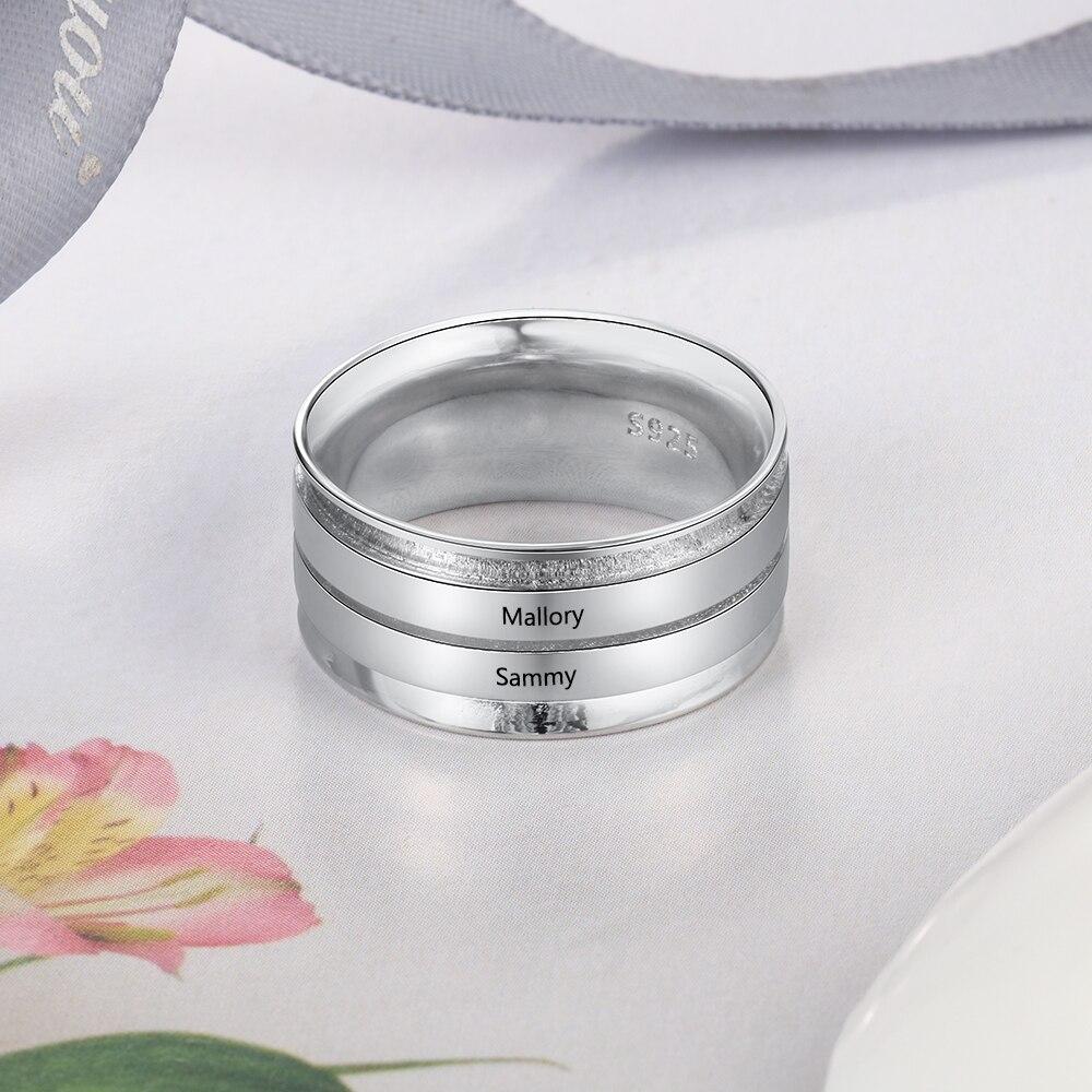 Anillos grabados personalizados para mujeres, anillos de compromiso con nombre personalizado, anillos de boda, regalos de joyería de aniversario para su mamá