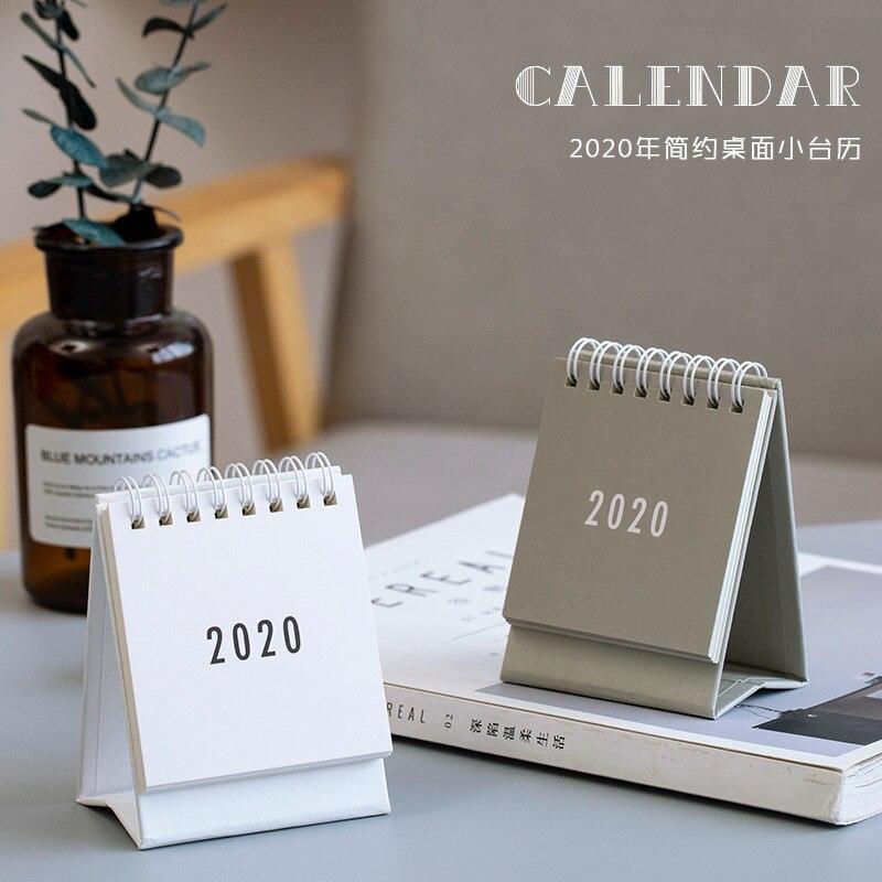 2020 к этой серии небольшой бумаги для рабочего стола, простой календарь, двойной ежедневный планировщик стола, органайзер для ежегодной прог...