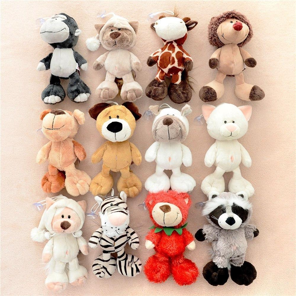 15 cm, bonito, alemán, jungla, hermano, Tigre, mono, oso, erizo, burro, jirafa, peluche, Animal de juguete, envío gratis
