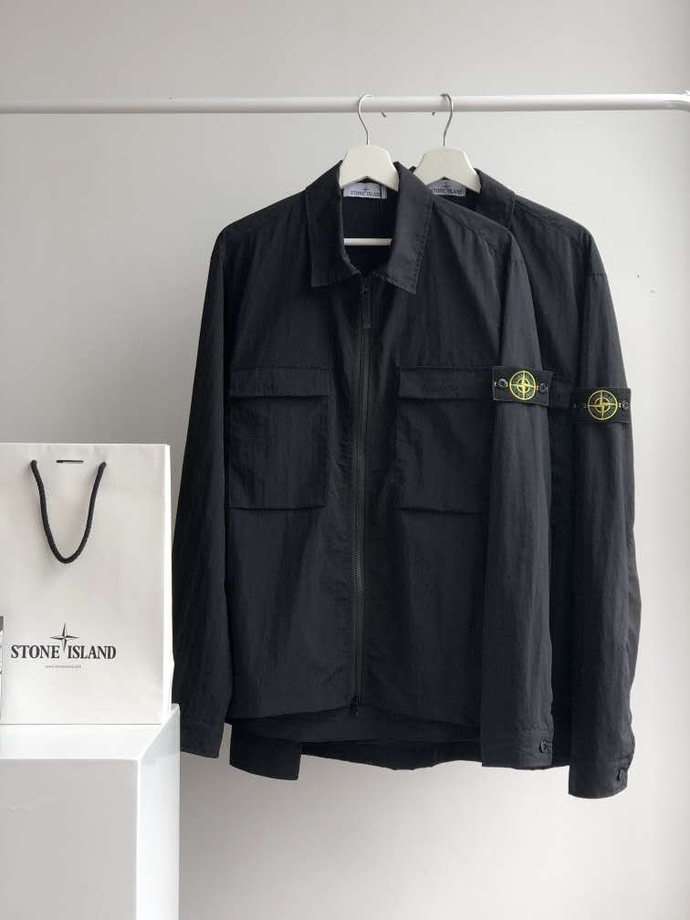 2021 Stone Island Functional Jacket Genuine Wire Tooling Jacket Shirt Men's Windbreaker
