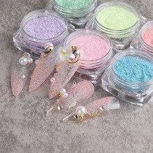 6 boîte/ensemble sucre ongles paillettes bonbons poudre sucre effet coloré poudre ongles Pigment Chrome Nail Art décorations poussière