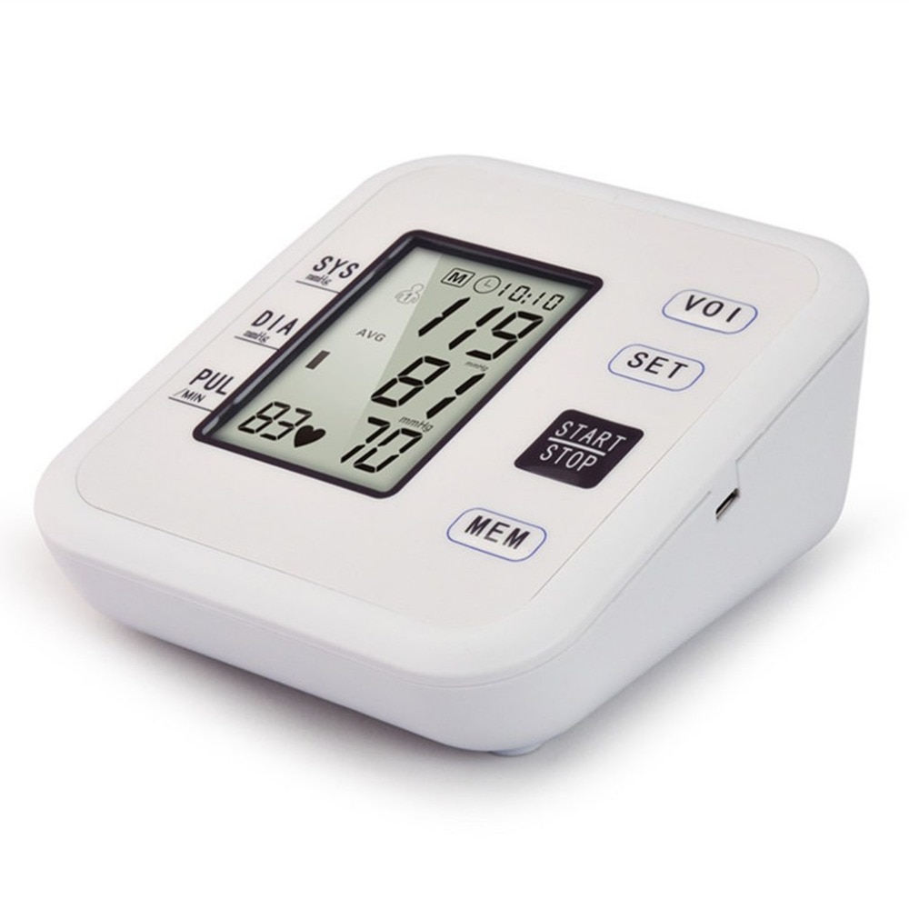 Portable Arm Blood Pressure Monitors Voice Tonometer Smart Digital Health Care Household Sphygmomanometer