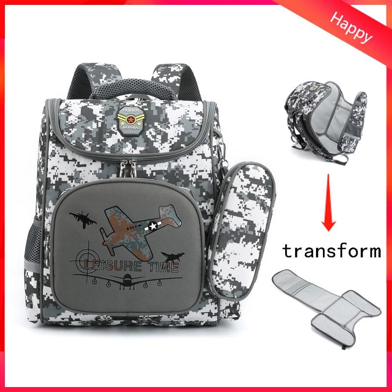 Camouflage Waterproof School Bags For Girls Boys Orthopedic Children Backpack Kids Book Bag Mochila Escolar Schoolbag DropShip