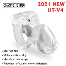 Pássaro casto 2021 novo dispositivo de castidade masculino HT-V4 conjunto keuschheitsgurtel galo gaiola penis anel bondage cinto fetiche sexo adulto brinquedos