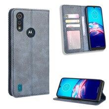 For Motorola Moto E6s 2020 XT2053-1 2 3 Case Wallet Flip Style Leather Phone Cover For Motorola Moto E6s (2020) With Photo Frame