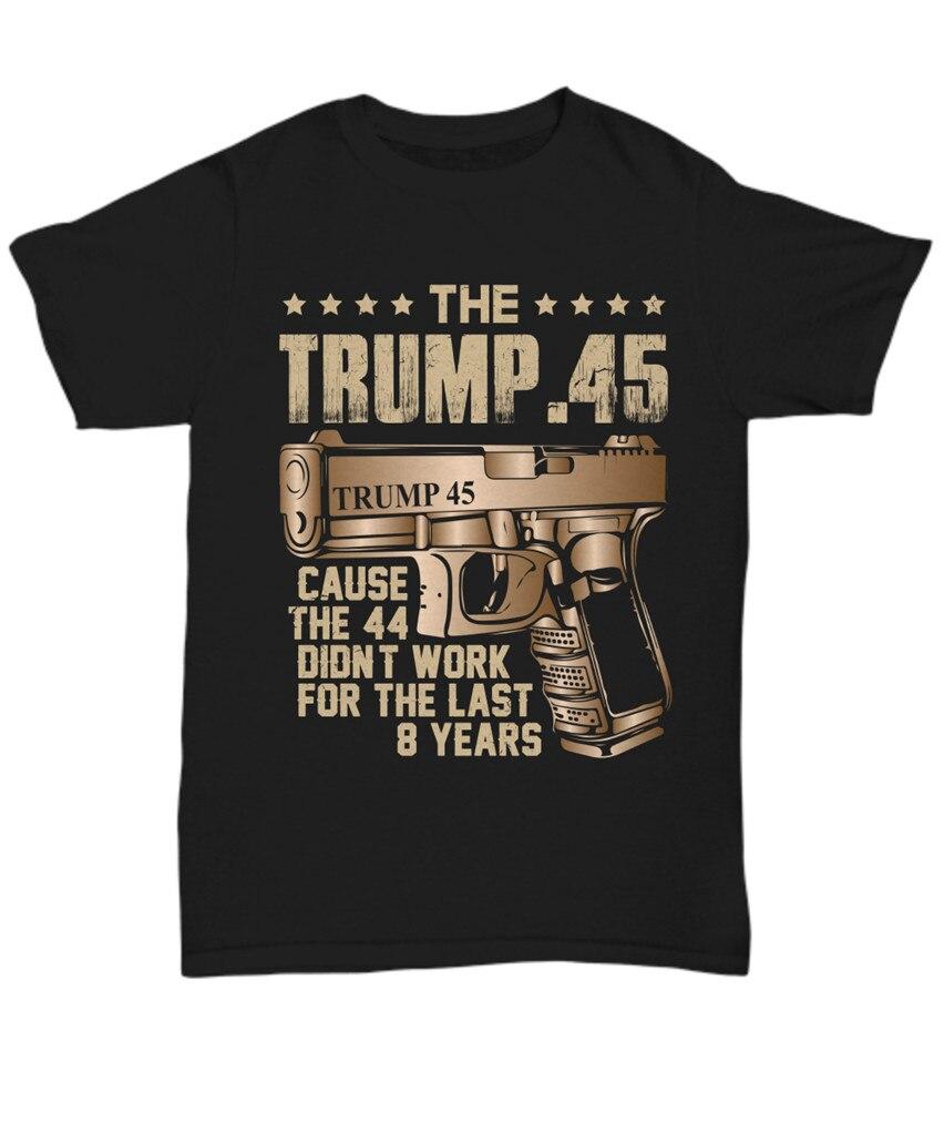 El presidente Donald Trump 45 camiseta Gun Right 2ª enmienda USA camiseta política regalo moda Estilo clásico