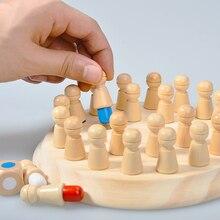 Jouets en bois pour enfants Montessori mémoire compétition jeu de société couleur Stimulation sensorielle quantité jeu de Puzzle