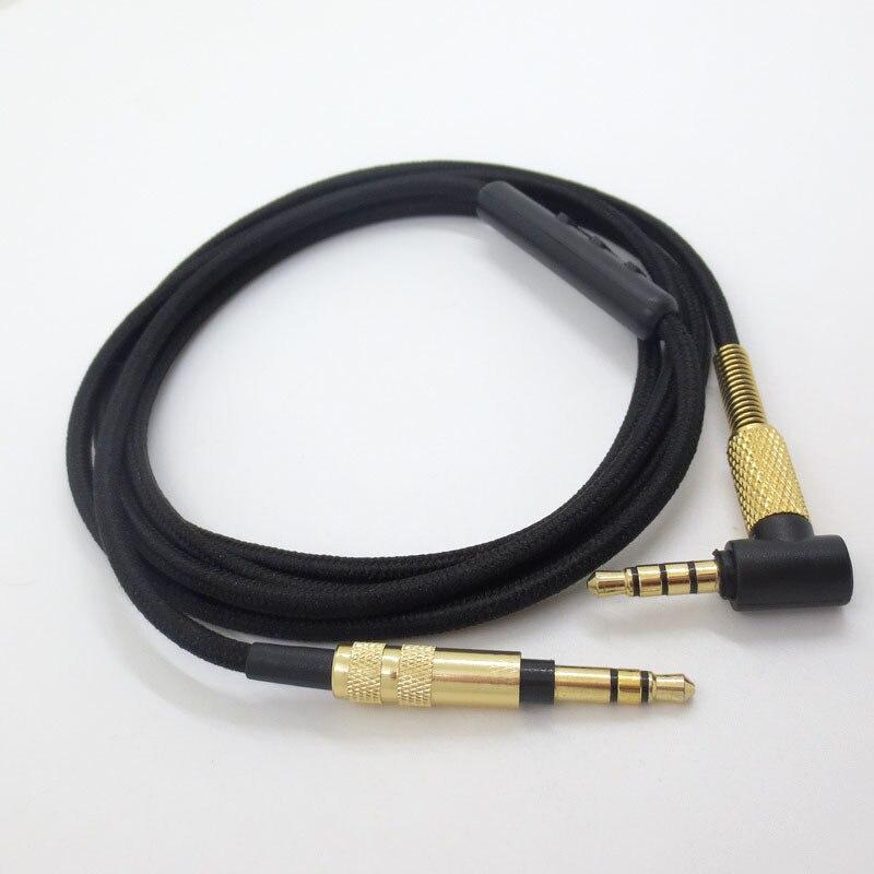 Адаптер для наушников 3,5 мм, обновленный аудиокабель с встроенным микрофоном, удаленным громкостью для наушников Sony mdr-10r MDR-1A XB950 Z1000 MSR7