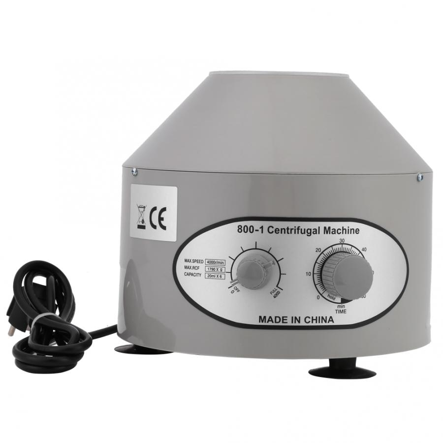 Centrífuga eléctrica de laboratorio de escritorio, práctica de laboratorio, 4000 rpm, 6x20 ml, EU 220V