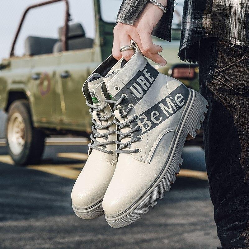 حذاء رجالي موضة 2020 للخريف والشتاء, حذاء أبيض دافئ ، كاجوال ، جلد ، رجالي ، أحذية مريحة