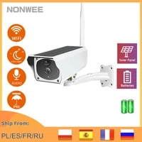 solar panel wifi camera wire free battery outdoor waterproof ip camera 1080p security cctv video camera two way audio pir motion