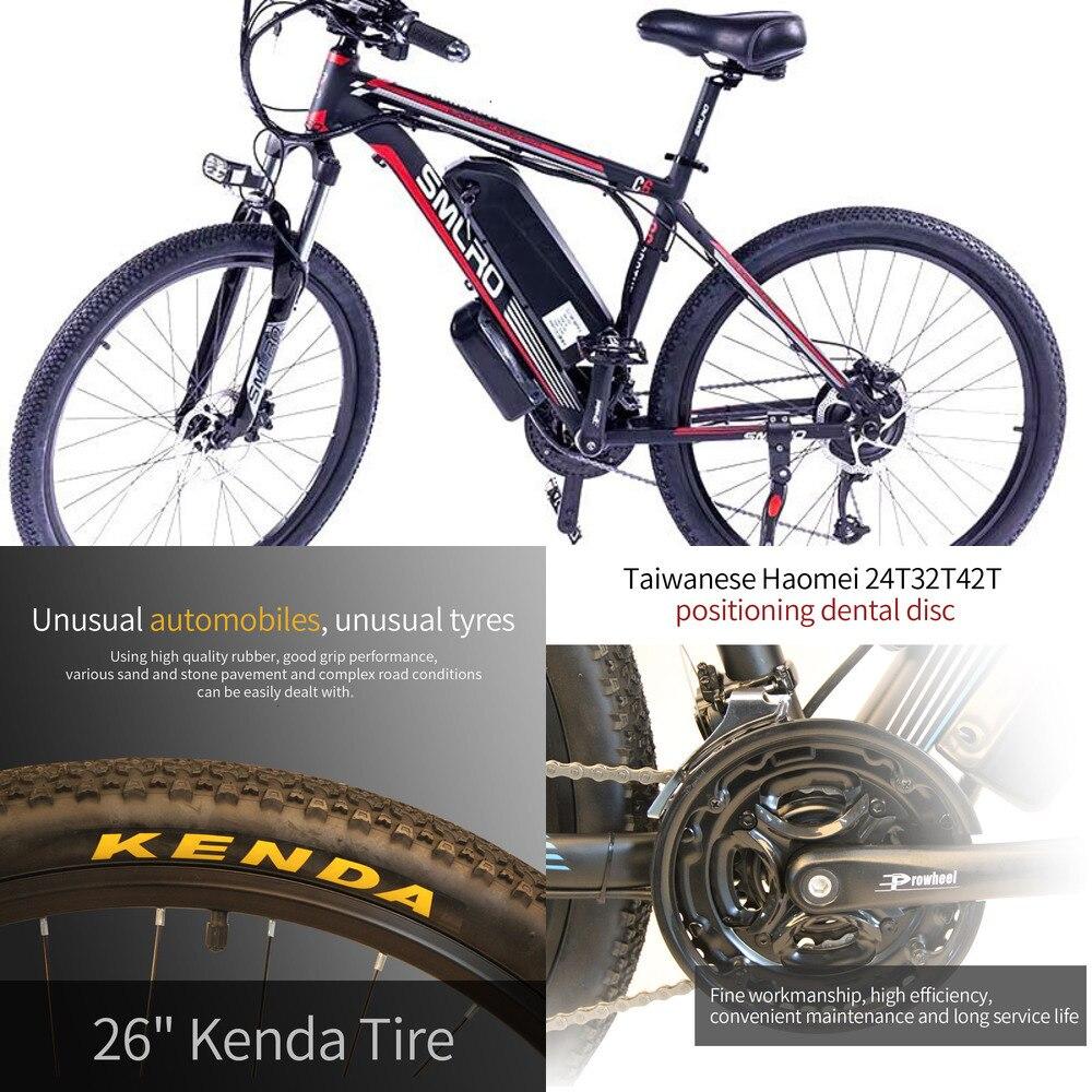 Tamaño de los neumáticos 26/27.5/29 pulgadas 48V C6 venta al por mayor de fábrica 350W e bicicleta de montaña bicicleta eléctrica mtb