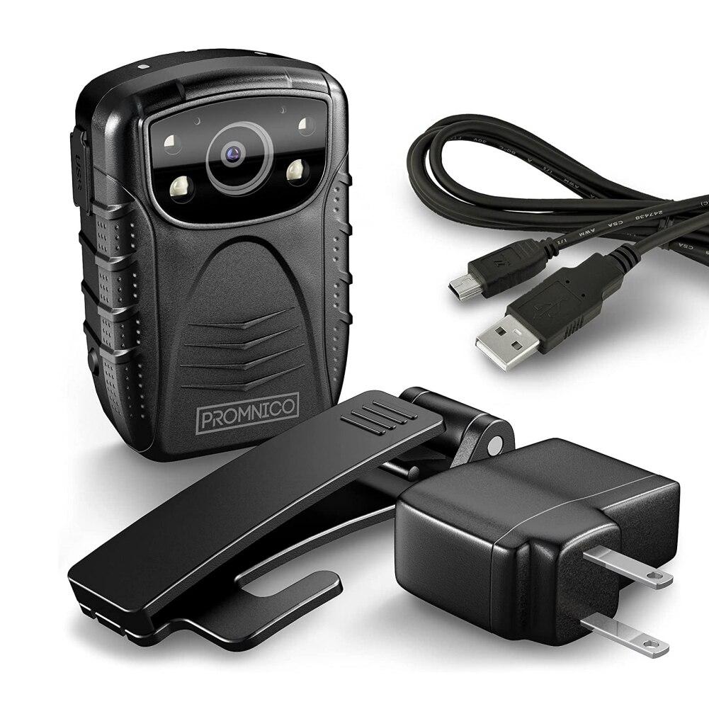 مقاوم للماء الشرطة كاميرا يمكن حملها بالجسم يمكن ارتداؤها 1080p عالية الوضوح فيديو الصوت كاميرات الفيديو 4 بوصة LCD كاميرات للرؤية الليلية لتحدي...