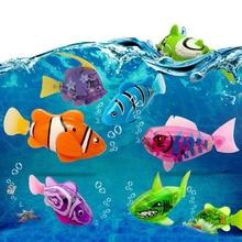 Poisson électronique Flash natation jouets de bain pour animaux de compagnie alimenté par batterie natation robotique pour enfants enfants baignoire réservoir de pêche décoration cadeau
