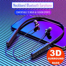 Wireless bluetooth Magnetic headset Sports Bluetooth 5.0 Headset In-Ear Smart Earphone Neck Mounted Waterproof Mini Smart Earbud