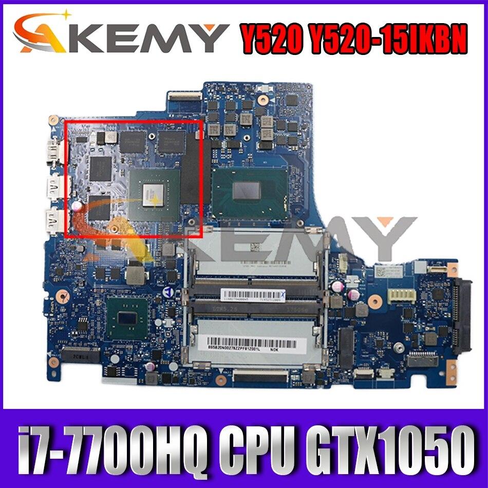 Для Lenovo Легион Y520 Y520-15IKBN Материнская плата ноутбука DY512 NM-B191 материнской платы W/ i7-7700HQ процессор GTX 1050 GPU