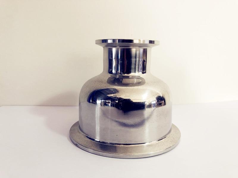 "Reductor 6 ""(154mm) od166,7 x 2""(51mm )OD64, accesorio de tubería concéntrica de tri-abrazadera sanitaria SS 304"
