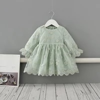 0 4yrs toddler kids girls princess dress lace embroidery wedding birthday party dress pageant children clothing kids costumes