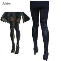 Ainiel  NieR: Automata YoRHa No.2 Type B Cosplay Shoes 2B Cosplay Boots for Women Girl Halloween High Heels Shoes Custom made