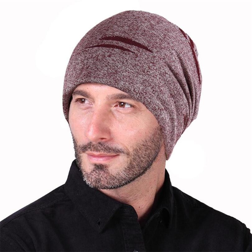 LJCUIYAO sólido Unisex hombres mujeres Skullies gorros gorro de punto de algodón doble capa de tela gorros sombrero de alta calidad