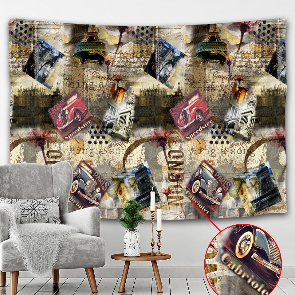 Tapiz de pared de periódico creativo Mandala viaje colchón Hippie decoración Bohemia decoración del hogar