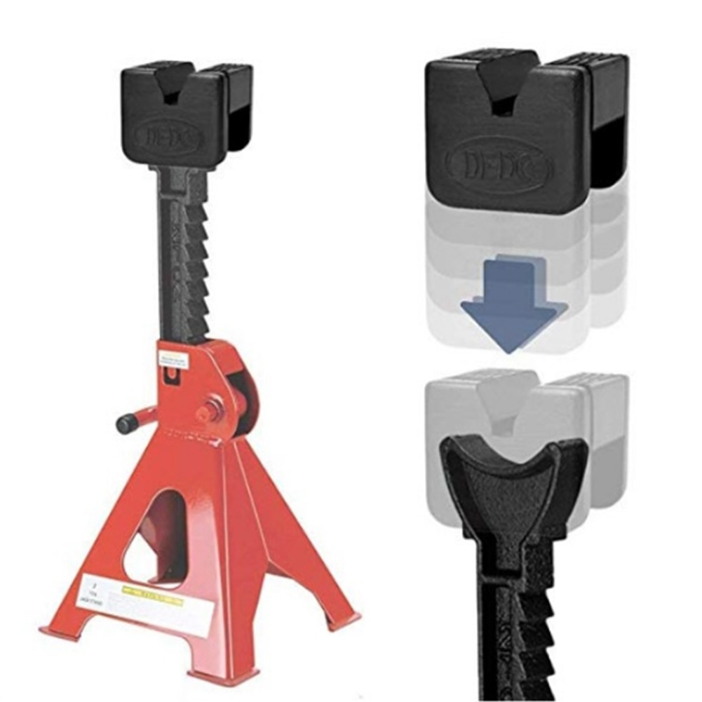 1/4Pcs Floor Jack Pad Rubber Universal Slotted Guard Portable Anti Slip Vehicle Square Accessories Frame Rail Car Repair Adapter
