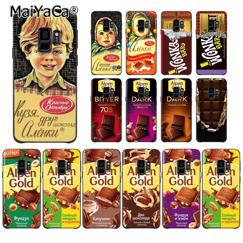 MaiYaCa Alyonka Alenka Alpen oro chocolate Wonka caso de teléfono para Samsung S9 S9 más S5 S6 S6edge S6plus S7 S7edge S8 S8plus