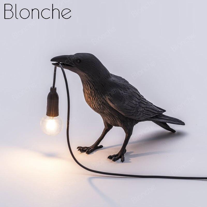 مصباح جداري إسكندنافي حديث على شكل طائر ، راتينج كرو ، إضاءة داخلية مزخرفة ، مثالي لغرفة النوم أو غرفة المعيشة أو المطبخ.